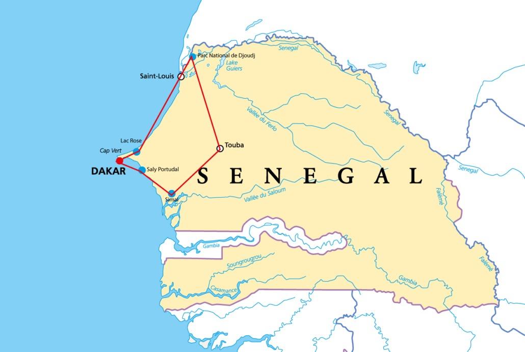 Explorer le Sénégal comme jamais auparavant avec Sep Voyage: plusieurs villes phare, Dakar, l'une des confréries musulmanes les plus importantes du pays, plus de 350 espèces d'animaux.